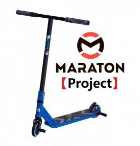 Трюковый самокат Maraton Project 2021 Синий + пеги 2шт