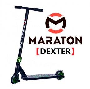 Самокат для трюков Maraton DEXTER Зеленый  (2021) + Пеги 2 шт