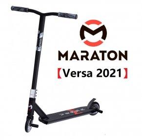 Самокат для трюков Maraton Versa Черный (Литые колеса)