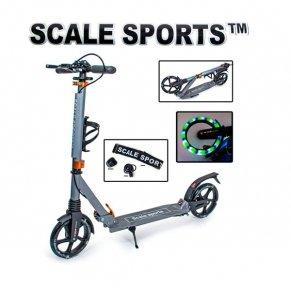 Самокат Scale Sports SS-20 LED Серый (светящиеся колеса)
