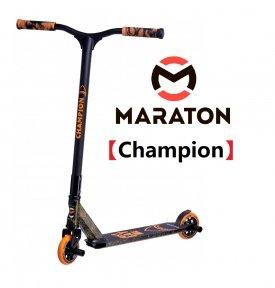 Трюковый Самокат Maraton Champion Оранжевый (2021) + Пеги 2шт